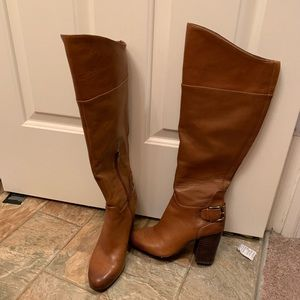 lightly worn vince camuto knee high leather boots